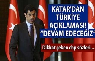 Katar'dan Türkiye açıklaması: Devam edeceğiz