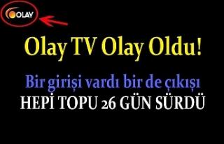 Olay TV kapandı