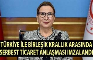 Türkiye ile Birleşik Krallık arasında Serbest...