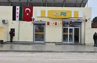 Barış Pınarı Harekatı bölgesinde PTT şubesi...