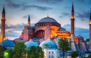 Cumhurbaşkanı Erdoğan'ın Ayasofya Camii'ne...