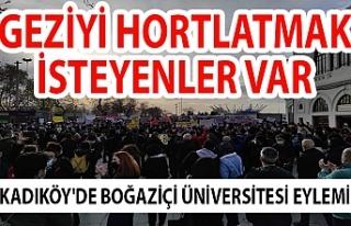 Kadıköy'de Boğaziçi Üniversitesi eylemi