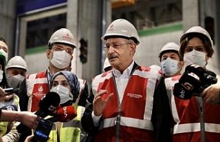 Kılıçdaroğlu'nun ziyareti sırasında tepki...