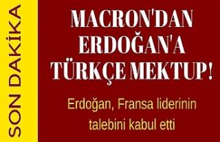 Macron'dan Erdoğan'a Türkçe mektup! Erdoğan,...