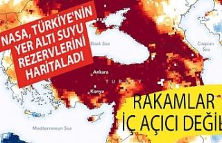 NASA, Türkiye'nin yer altı suyu rezervlerini...