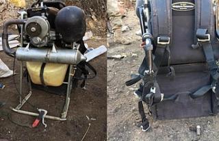 Paramotorla PKK'ya bomba taşıyan terörist...