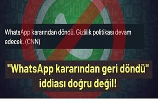 Sosyal Medyada Viral Olan WhatsApp'ın Geri Adım...