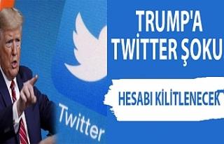 Trump'a Twitter şoku! Hesabı kilitlenecek