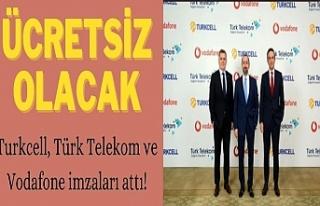 Turkcell, Türk Telekom ve Vodafone imzaları attı!...