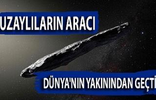Uzaylıların aracı Dünya'nın yakınından...