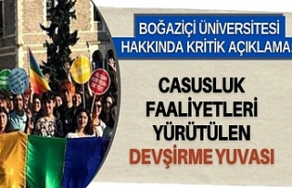 Boğaziçi Üniversitesi hakkında kritik açıklama:...
