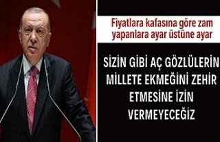 Cumhurbaşkanı Erdoğan'dan gıda fiyatlarındaki...