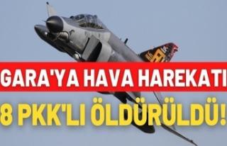 Gara bölgesinde 8 PKK'lı terörist öldürüldü
