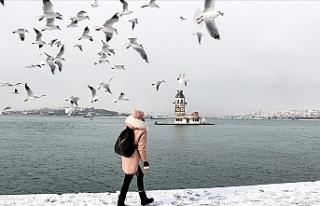 İstanbul'da kar yağışı güzel görüntüler...