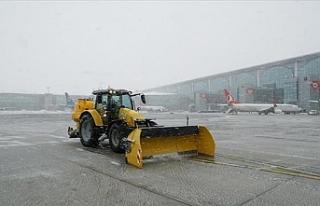 İstanbul Havalimanı'nda buzlanmaya karşı...