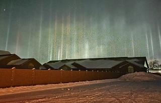 Nadir görülen 'ışık sütunları' fotoğraflandı