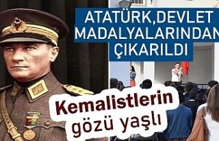Atatürk, devlet madalyalarından çıkarıldı