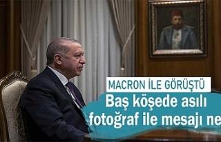 Cumhurbaşkanı Erdoğan, Macron'la görüştü