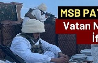 MSB'den 'iftar' paylaşımı