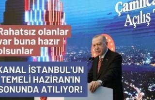 Cumhurbaşkanı Erdoğan, 'Kanal İstanbul'...