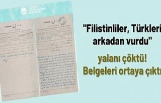"""""""Filistinliler, Türkleri arkadan vurdu""""..."""
