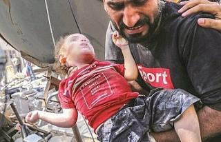 Gazze'de  61'i çocuk 212 şehit