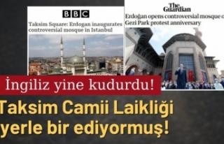 İngiliz basını, Taksim Camii'nden rahatsız...