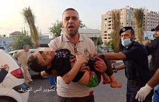 İşgalci İsrail savaş uçakları ile saldırdı:...