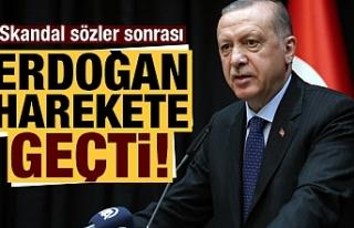 Skandal sözler sonrası Cumhurbaşkanı Erdoğan...
