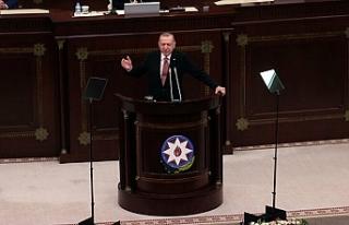 Cumhurbaşkanı Erdoğan Azerbaycan Meclisi'nde...
