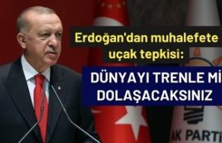 Erdoğan'dan muhalefete uçak tepkisi: Dünyayı...