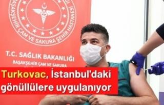 Turkovac, İstanbul'daki gönüllülere uygulanıyor