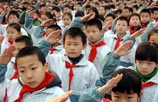 Çin'de 6 ve 7 yaşındaki öğrencilere yazılı...