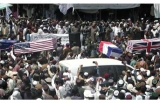 Afgan halkından NATO'ya 'cenaze töreni'