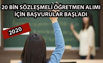 20 bin sözleşmeli öğretmen alımı için başvurular başladı