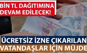 Hazine ve Maliye Bakanı Albayrak: Dar gelirli ailelere sağlanan 1000 lira nakdi yardımı 4,4 milyon aileye vereceğiz
