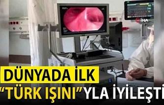 Diyarbakır'da koronavirüs tedavisi gören hastaya Türk ışını tedavisi uygulandı