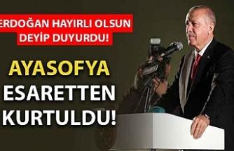 Başkan Erdoğan'dan 'Ayasofya' açıklaması! Kararnameyi yayınladı