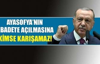 Erdoğan, Ayasofya'ya müdahale edenleri eleştirdi