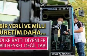 Cumhurbaşkanı Erdoğan, milli iş makinasını test etti