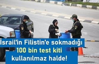 İsrail'in Filistin'e sokmadığı 100 bin test kiti kullanılmaz hale geldi