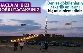 Yunanistan, Türkiye sınırına dev haç yerleştirdi