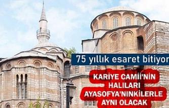 75 yıllık esaret bitiyor: Kariye Camii'nin halıları Ayasofya'nınkilerle aynı olacak