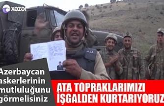Azerbaycan askerlerinin mutluluğu