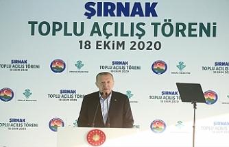 Cumhurbaşkanı Recep Tayyip Erdoğan, Şırnak'ta toplu açılış törenine katıldı