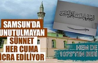 Samsun Ladik'te cuma hutbesi kılıçla okunuyor