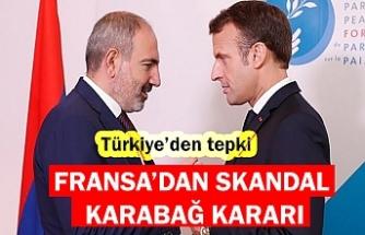 Dışişleri Bakanlığı'ndan Fransa'nın skandal Dağlık Karabağ kararına sert tepki!