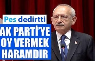 Kemal Kılıçdaroğlu'na göre AK Parti'ye oy vermek haram