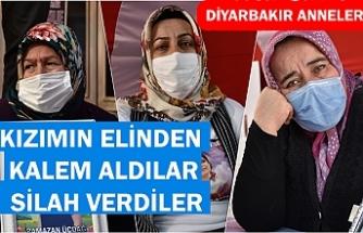 Diyarbakır annelerinden Nazlı Sancar: Kızımın elinden kalem aldılar, silah verdiler