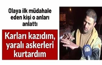 Bitlis'te kaza yerine ulaşan vatandaş o anları anlattı